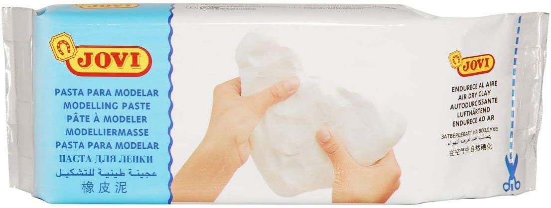 Jovi Air-Dry Modeling Clay; 1.1 lb. White, non-staining, perfect for Arts and Crafts Projects (086-85000)