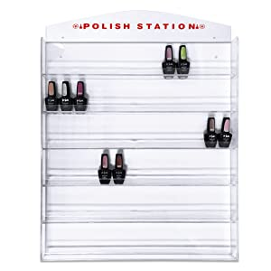 Nail Polish Wall Mounted Organizer Display Transparent Clear Wall Rack - Hold up to 126 bottles (Famous USA Fuji Brand) Perfect for Birthday Christmas Valentine Gift