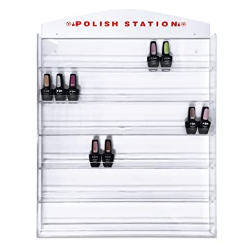 Fuji Acrylic Nail Polish Wall Rack Organizer Display Holds Up To 126 Bottles