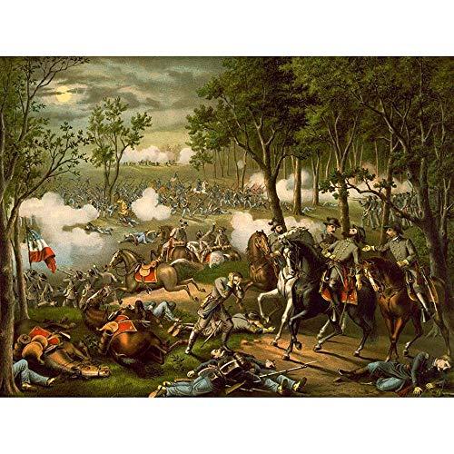 Wee Blue Coo War American Civil Battle Chancellorsville USA Hooker Unframed Wall Art Print Poster Home Decor Premium ()