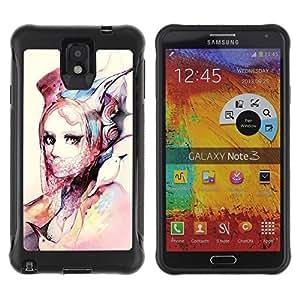 """Hypernova Defender Series TPU protection Cas Case Coque pour SAMSUNG Galaxy Note 3 III / N9000 / N9005 [Moda Arte de la acuarela Diseño Ropa""""]"""