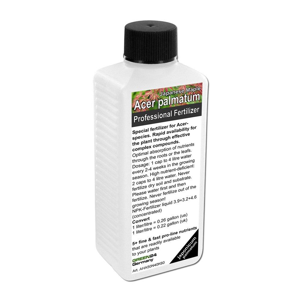 Acer japonicum/palmatum Plant Food (Japanese Maple, Fullmoon Maple) Liquid Fertilizer HighTech NPK, Root Soil Foliar GREEN24