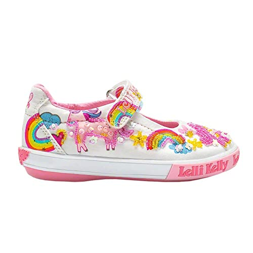 7ebf359688c8e Lelli Kelly LK9050 (BA02) White Fantasy Unicorn Dolly Shoes-24 (UK 6.5