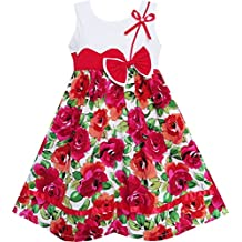 Sunny Fashion Girls Dress Cute Bow Tie Floral Party Holiday