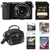 Sony Alpha a6000 Limited Edition Bundle w/ 16-50mm Lens, SwissGear Case, 32GB SD Card & Premium Photo Software