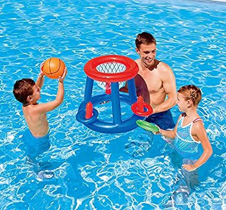 Amazon.com: Floating Hoops piscina Baloncesto Juego al aire ...