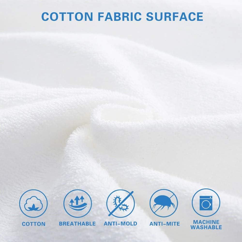 Anti-acaro Antibatterico Bedecor Coprimaterasso Impermeabile 120x200cm,Cotone Top,Proteggi Materasso Traspirante