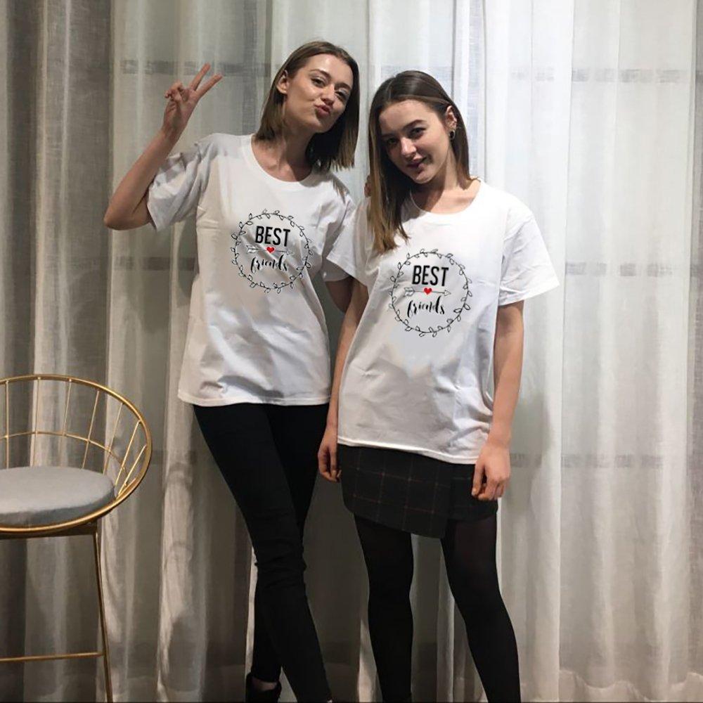 Best Friends T-Shirts f ü r Zwei Damen M ä dchen Beste Freundin BFF Freunde  Freund Tshirt mit ... a6e02ad176