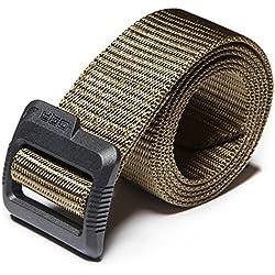 "CQR CQ-MZT01-KHK_XL(w40-42) Tactical Belt 100% Full Refund Assurance Nylon Webbing EDC Duty 1.5"" Belt MZT01"