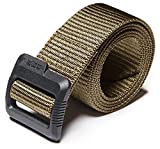 "CLSL CQ-MZT01-KHK_2XL(w44-46) CQR Tactical Belt 100% Full Refund Assurance Nylon Webbing EDC Duty 1.5"" Belt"" MZT01"