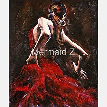 Künstler Pure Handgefertigt Eindruck Elegante Tango Flamenco Hitze Dancing  Spanische Frau Tänzerin Ölgemälde Auf Leinwand Beautiful