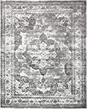Unique Loom 3134093 Sofia Collection Traditional Vintage Beige Area Rug, 8' x 10' Rectangle, Gray