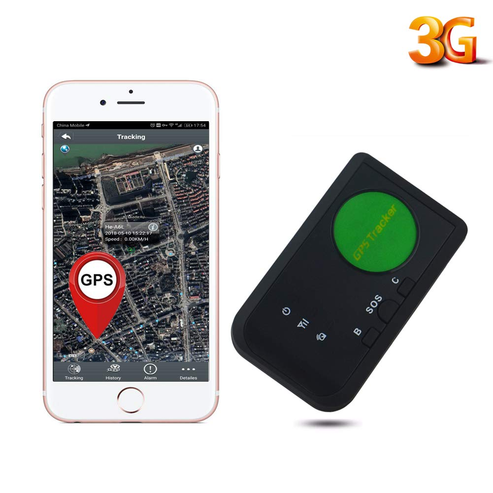 AUENLIPHTO 3G GPS Tracker Vehicle Kids Elders Real-time Portable Wireless Personal No Monthly Fee WCDMA Global Tracking Device,Free Car Charger Kit (Black)