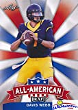 Davis Webb 2017 Leaf Draft All American Insert