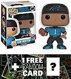Cam Newton (GameStop Exclusive): Funko POP! x NFL Vinyl Figure + 1 FREE Official NFL Trading Card Bundle (113038)