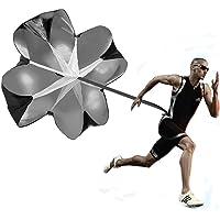 Velocidad de running Formación, Kuyou 142,2cm Resistencia paracaídas de entrenamiento de velocidad paraguas Running Chute & Fitness poder explosivo Entrenamiento (Negro)