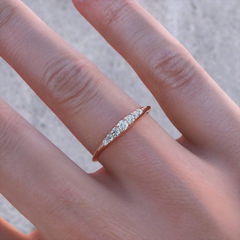 Women/'s wedding band Wedding ring White gold wedding band Stacked wedding ring 14K white wedding band Modern wedding band