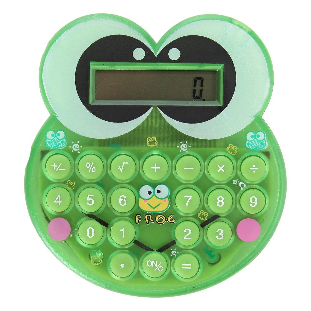 Home-X Cute Cartoon Green Frog Mini Pocket Calculator SHR100