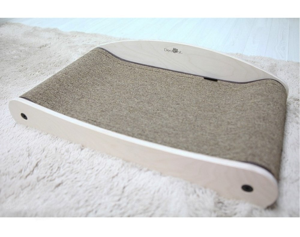 Premium Wood Cat Scratcher Cat Scratching Board Dustless Cat Scratch Carpet, Cat Bed Scratcher Detachable Carpet Type B