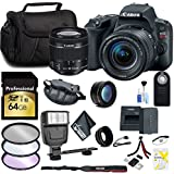 Canon EOS Rebel SL2 DSLR Camera 18-55mm Lens 64GB Memory Card, Telephoto, Wide Angle Lenses, Filters Accessory Bundle