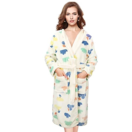 a06f8c19fe The Bath Robe Fleece Cotton Bathrobe with Loops for Spa