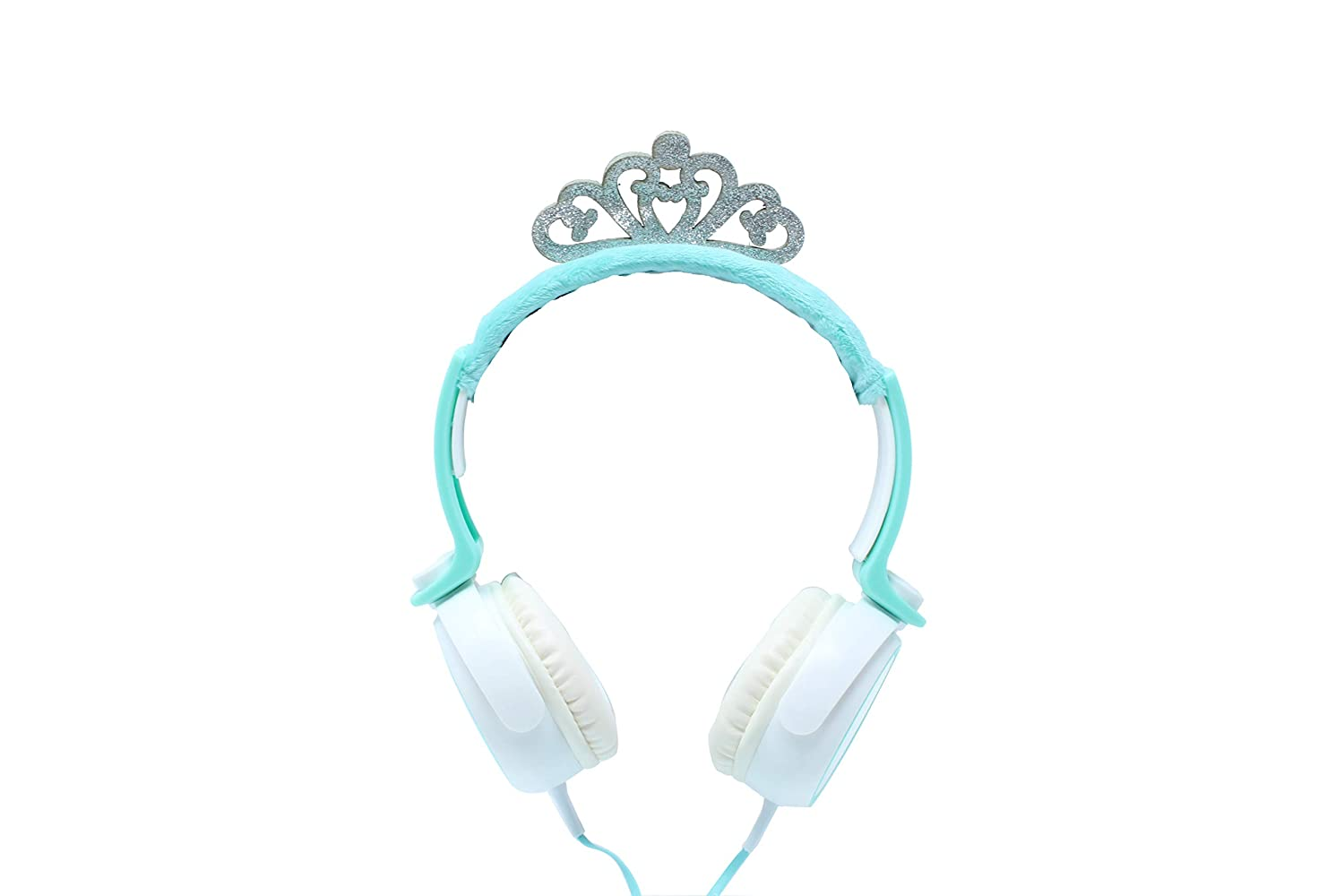 Gabba Goods Premium Design Princess Crown Over The Ear Comfort Padded Stereo Headphones AUX Cable | Earphones