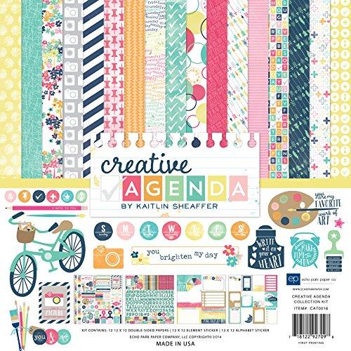 Echo Park Paper Company CA70016 Creative Agenda Collection Scrapbooking Kit (Scrap Paper)