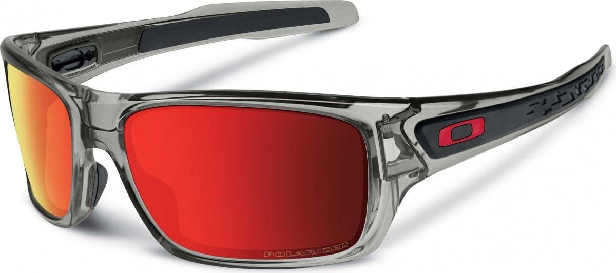 Oakley - Gafas de sol para hombre, color gris, lentes polarizadas ...