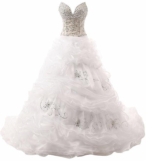 Vestido novia sin sujetador