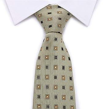 Zjuki Corbata Corbata a Cuadros Hombres 8 cm Ancho Corbata de ...