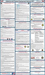 2017 Alabama State and Federal Labor Law Poster - Laminated 24\