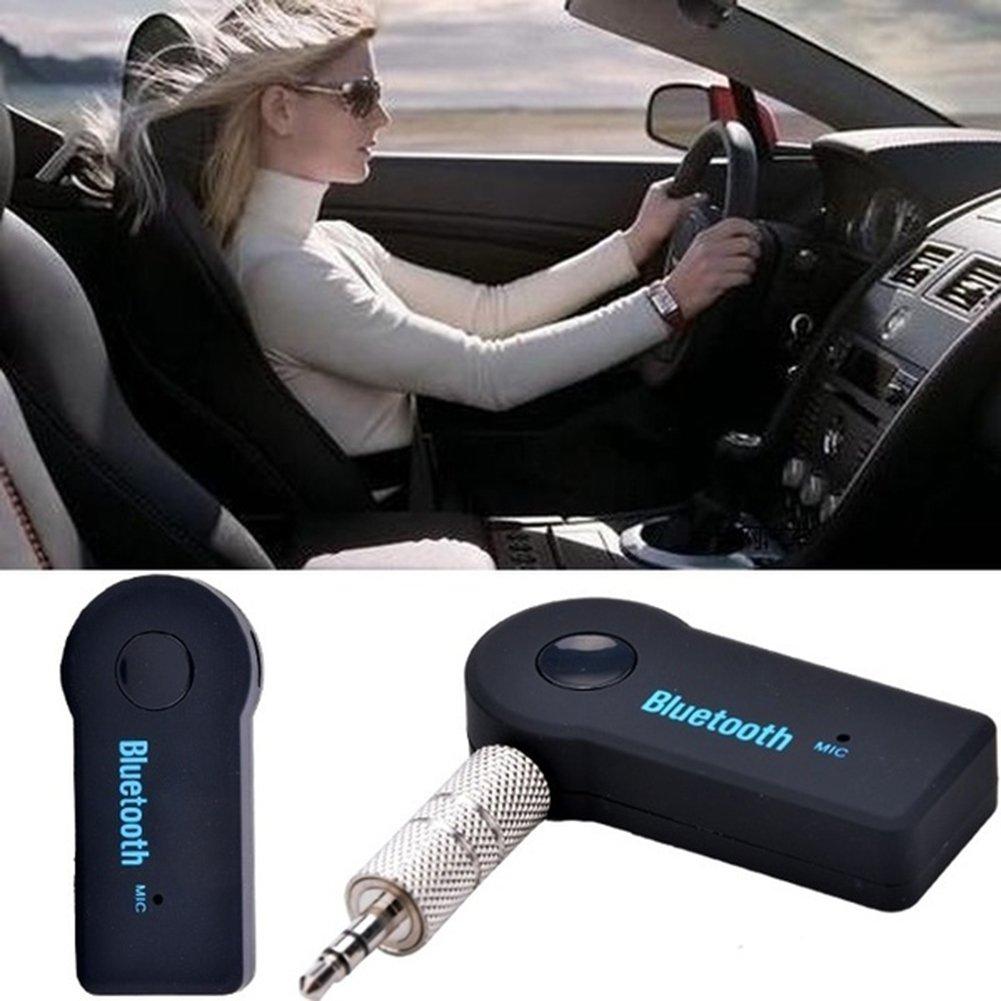 Hmocnv Bluetooth musica ricevitore adattatore audio stereo 3.5/mm AUX Home speaker MP3/per auto musica Sound System a mani libere calling integrato Mic