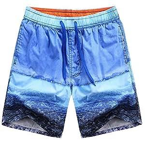 Kaxima Playa de verano pantalones de algodón suelto y seco rápido cinco pantalones sueltos grande ropa interior pantalones cortos hombres