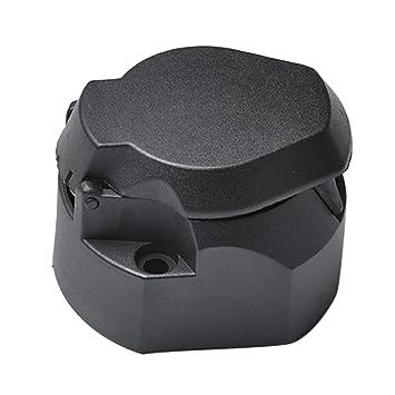 Gazechimp 7-poligen Verbinder Anhängerstecker mit Abdeckung für ...
