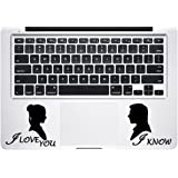 Trackpad Han Solo and Princess Leia Star Wars Apple Macbook Decal Vinyl Sticker Apple Mac Air Pro Retina Laptop sticker