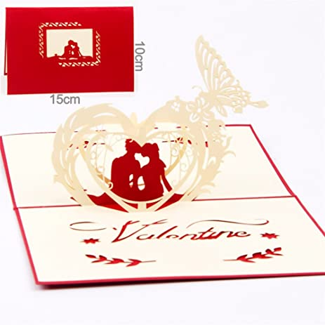 Paper Spiritz Happiness Lover Pop Up Cards Love Anniversary Christmas Laser Cut Birthday For Wife