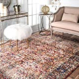 Traditional Vintage Mosaic Windows Area Rug