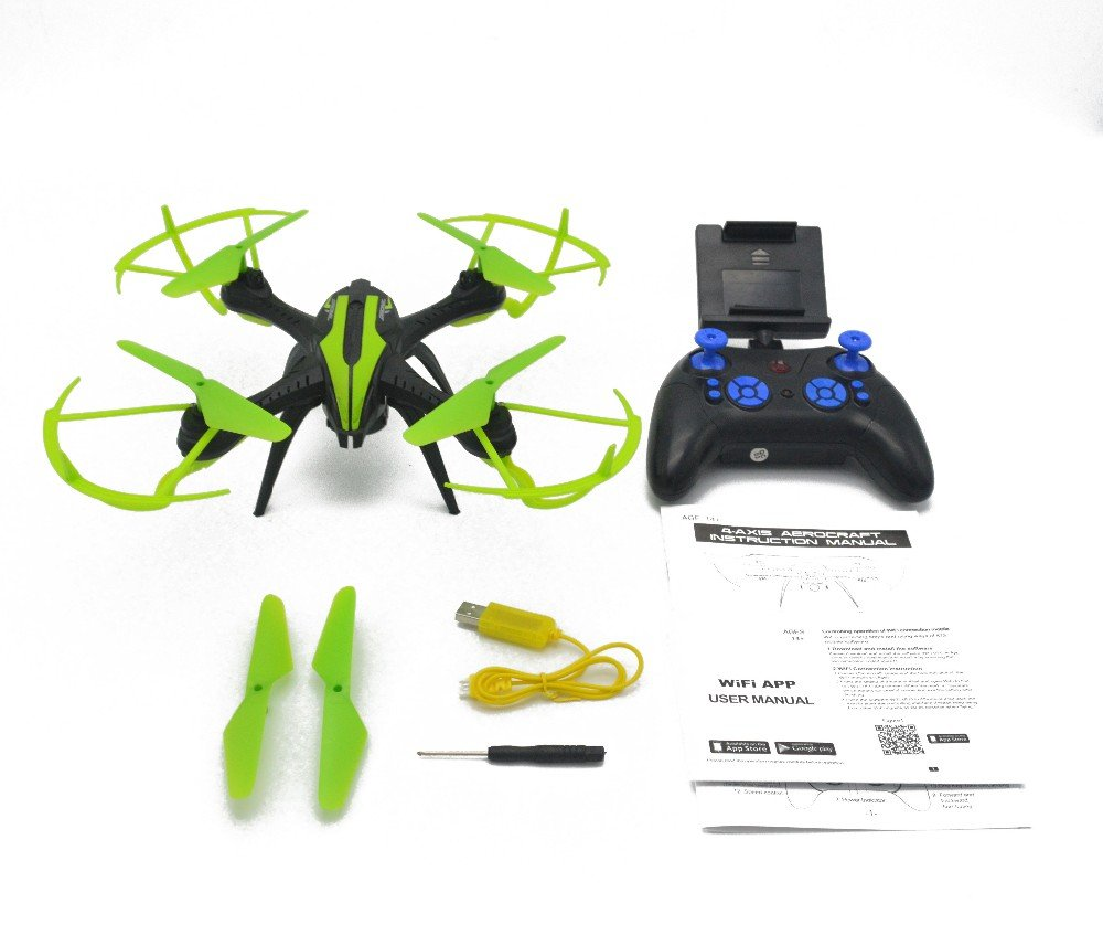 Green TWX20WF Drone Quadcopter 4CH 2.4GHz Remote Control with 6Axis Gyro With Real Time Recording (orange)