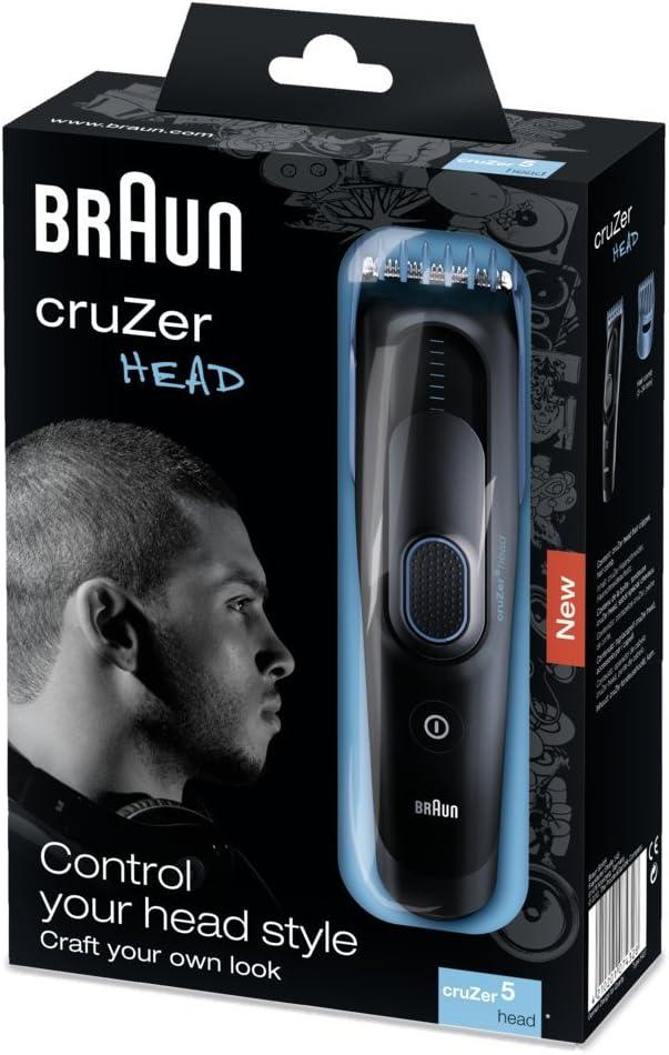 Braun Cruzer 5 Cortapelos 5427, 8 longitudes, batería de ...