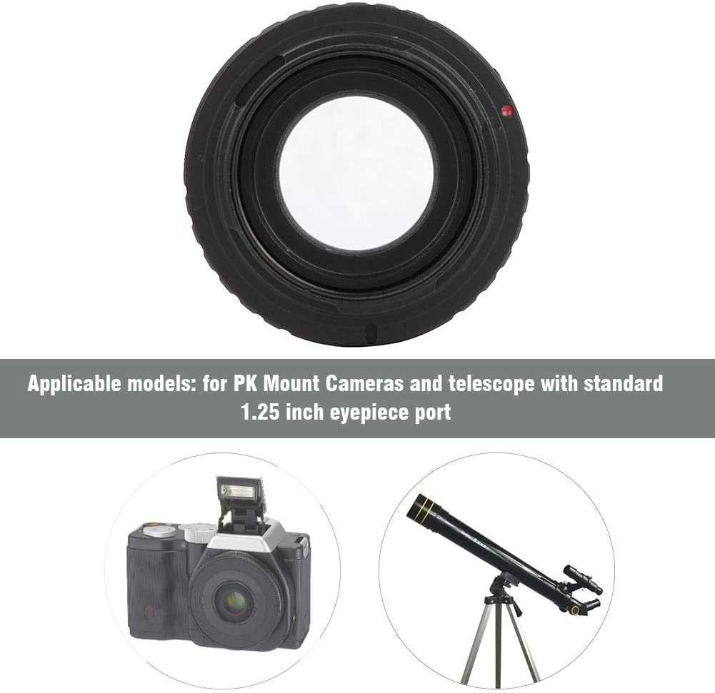 T2-PK Telescope Adapter Black VBESTLIFE Aluminium Alloy 1.25inch Telescope to for Pentax PK Mount DSLR Camera Adapter Ring