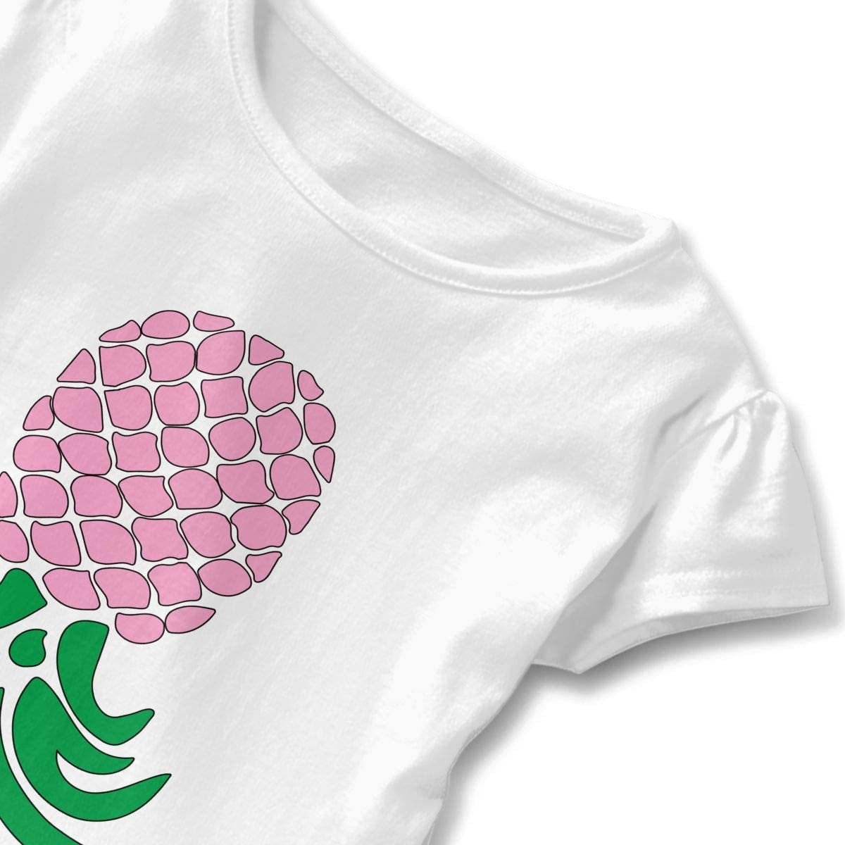 HYBDX9T Little Girls Upside Down Funny Short Sleeve Cotton T Shirts Basic Tops Tee Clothes