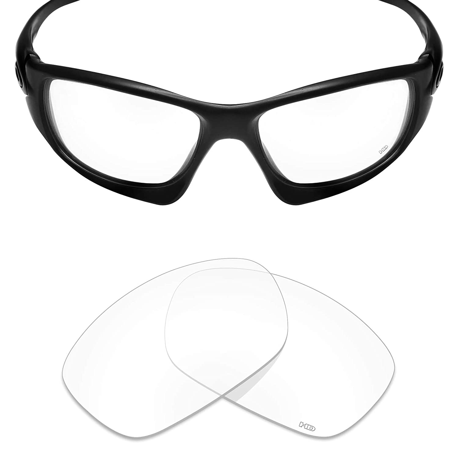 48298f73ef5 Amazon.com  Mryok+ Polarized Replacement Lenses for Oakley Ten X - HD  Clear  Clothing