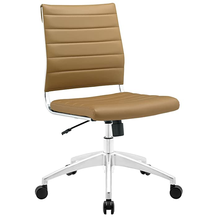 Modway Jive Mid Back Office Chair, Tan