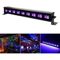 OPPSK barra de luz UV LED con 9 focos LED de 3W luz negra, Negro metálico, 9LEDs Black Lights