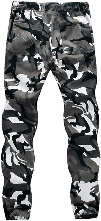 VPASS Pantalones Hombre Chándal de Hombres Camuflaje ...