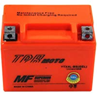 TDRMOTO Sale YTX4L-BS, YT4L, YTX4L, GTX4L-BS, GT4L-BS, GTX4L GEL Battery Re-Chargeable High Quality 12v 4Ah Battery Fits Yamaha TTR125 Honda XR250 CT70 Suzuki DR250 DR35