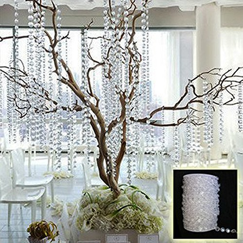 - Ants-Store - Acrylic Crystal Bead Curtain 33FT Garland Diamond Acrylic Crystal Bead Curtain Wedding Decoration DIY Party Decoration
