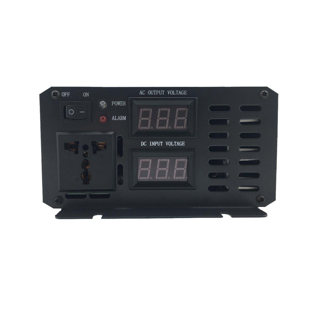 Xijia 1000W (Peak 2000W) Pure Sine Wave power Inverter DC 12V 24V 48V to AC 120V 60HZ Solar converter For Home Use car (DC 48V to AC 120V) by Xijia (Image #3)