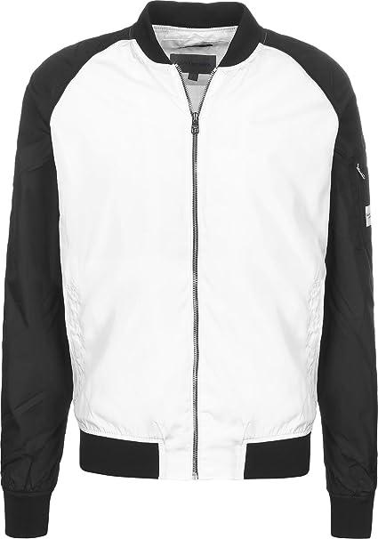 Calvin Klein Jeans Omri Chaqueta bomber white/black: Amazon.es: Ropa y accesorios