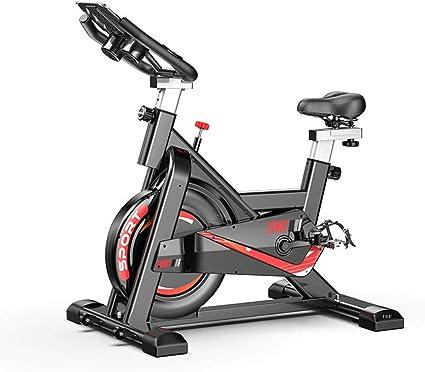 Divgdovg - Bicicleta estática para hacer spinning en casa. Bicicleta vertical con panel LCD, pulsómetro, resistencia variable y altura ajustable. Para interior, volante de inercia A: Amazon.es: Deportes y aire libre